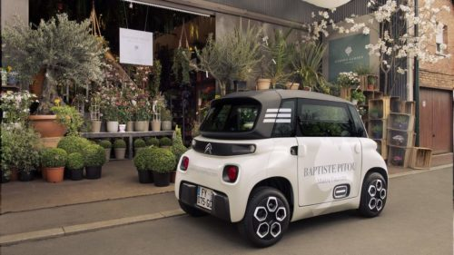 The Citroën Ami Cargo is an electric microvan for small business errands