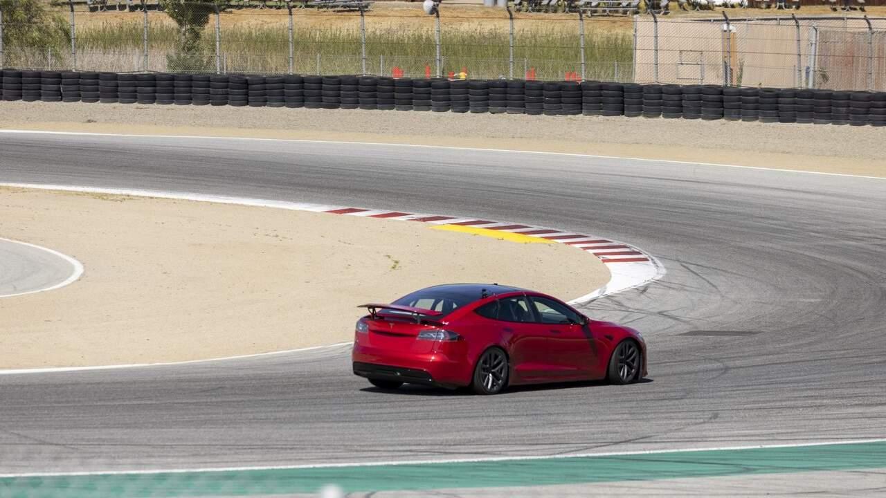 Tesla Model S Plaid spied testing in Laguna Seca weeks before customer deliveries begin