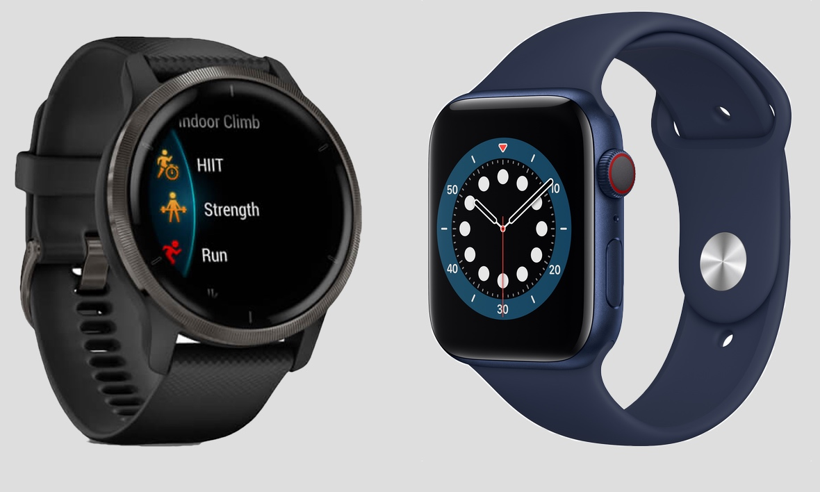 Garmin Venu 2 v Apple Watch Series 6/SE – choose the right device for you