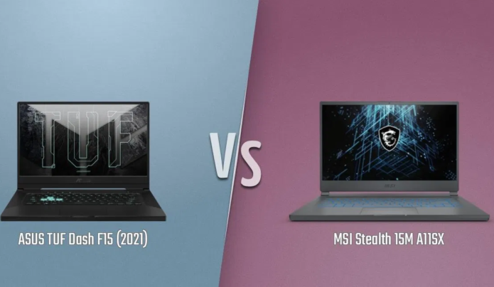 [In-depth comparison] ASUS TUF Dash F15 (FX516) vs MSI Stealth 15M – You have to make a choice between Style and Funtuonality