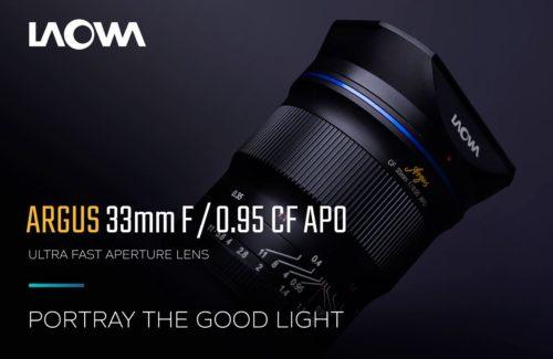 Laowa Argus 33mm f/0.95 CF APO APS-C Mirrorless Lens Announced