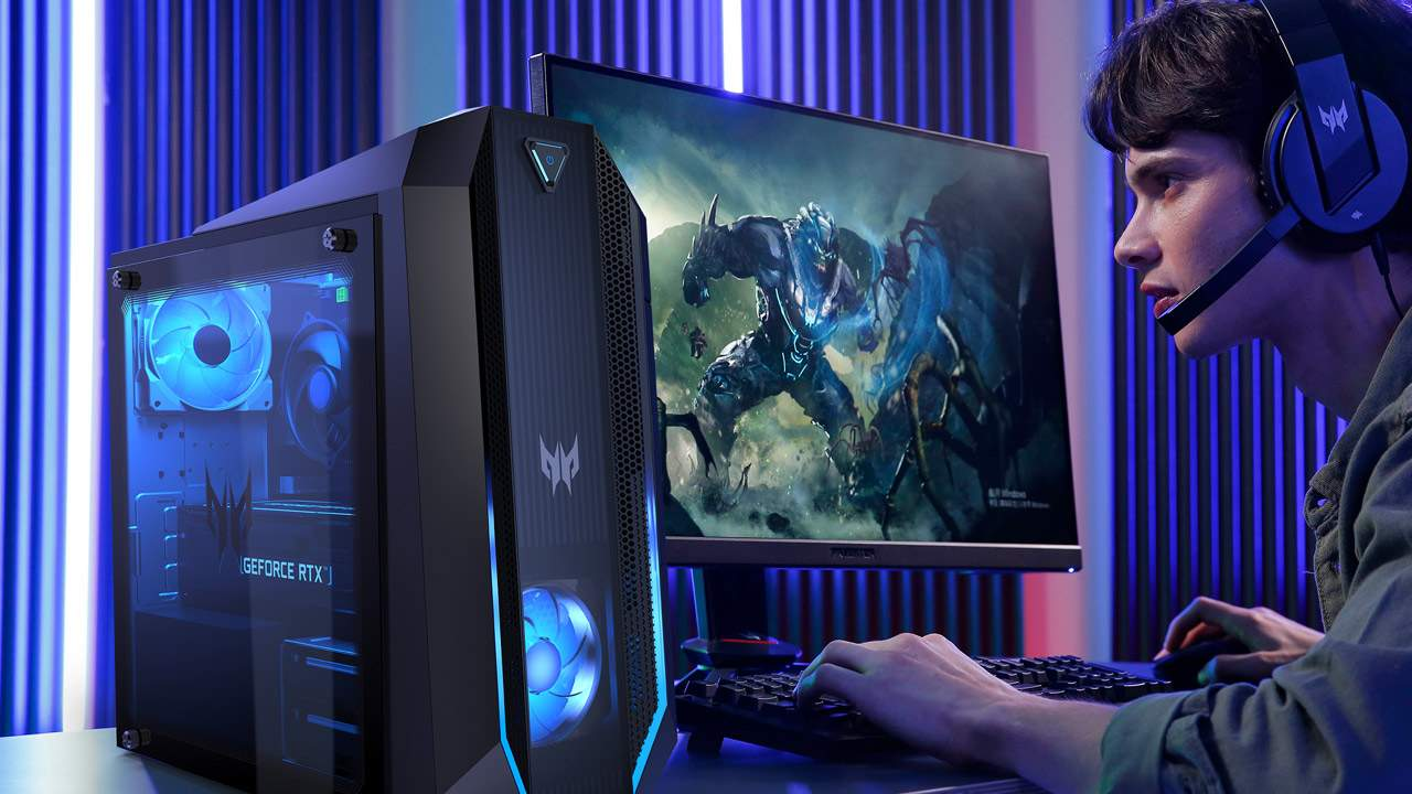 Acer Predator desktop gaming expands with RTX 30 and massive monitors