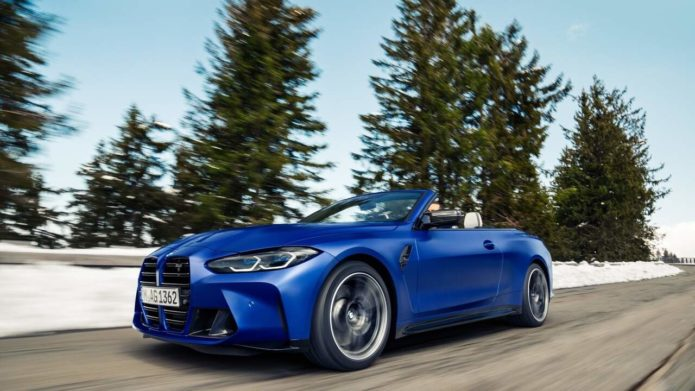 2022 BMW M4 Competition Convertible xDrive has more power and a folding fabric roof