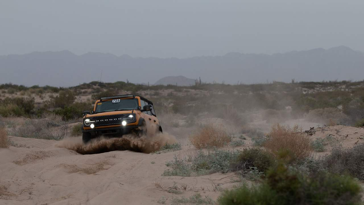 A stock 2021 Bronco Badlands Took third place in the NORRA Mexican 1000
