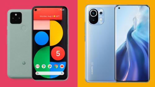 Xiaomi Mi 11 vs Google Pixel 5: two cheaper flagship Android phone alternatives