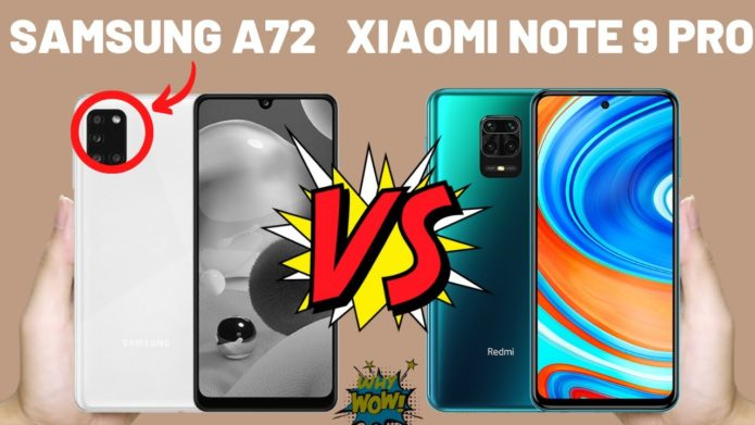 Galaxy A72 or Redmi Note 9 Pro? See comparison and know which to buy