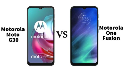 Moto G30 vs Motorola One Fusion: compare specs and price