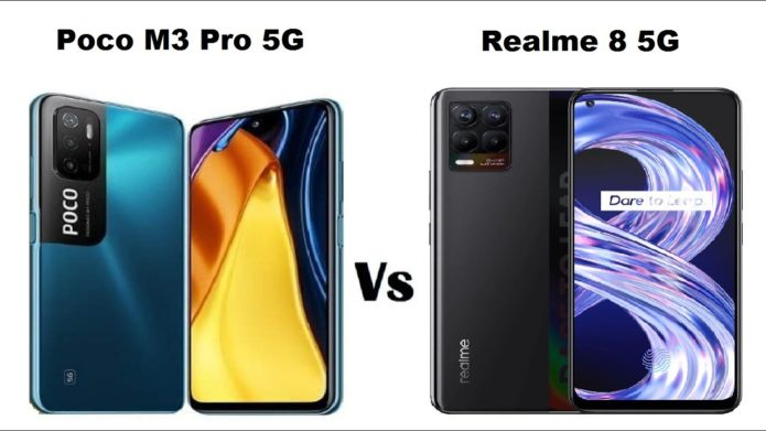 Poco M3 Pro 5G vs Realme 8 5G – Basically the same phone. Buy whatever is cheapest at the time
