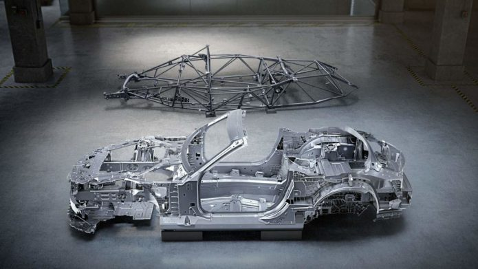 Mercedes reveals the bodyshell for the new Mercedes-AMG SL