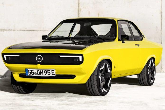 Wild electric Opel Manta GSe ElektroMOD revealed