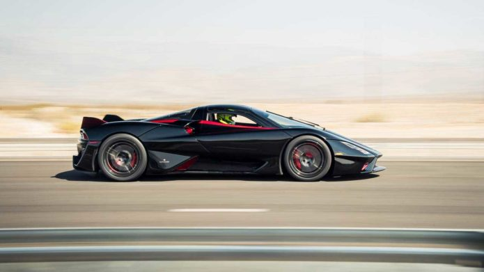 SSC Tuatara sustained heavy damage in an accident aboard a car carrier