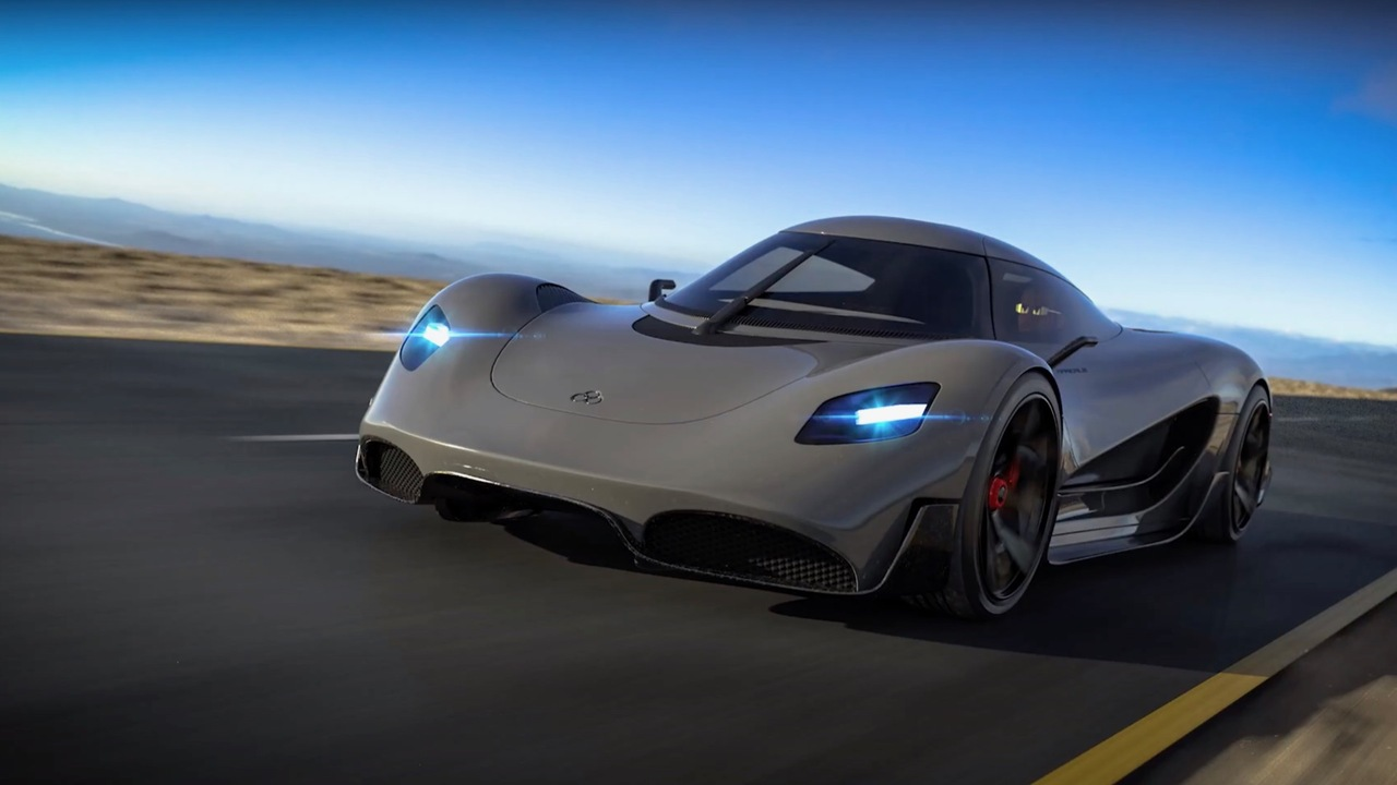Viritech Apricale is a hydrogen-powered hypercar that stores hydrogen in its chassis