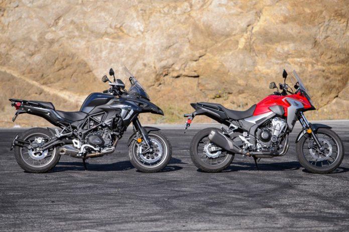 2021 Benelli TRK502 vs. Honda CB500X ABS