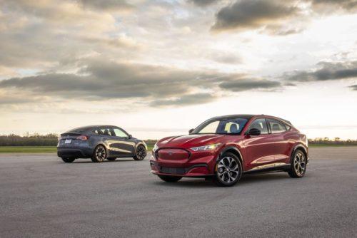 Comparison Test: 2021 Ford Mustang Mach-E vs. 2020 Tesla Model Y