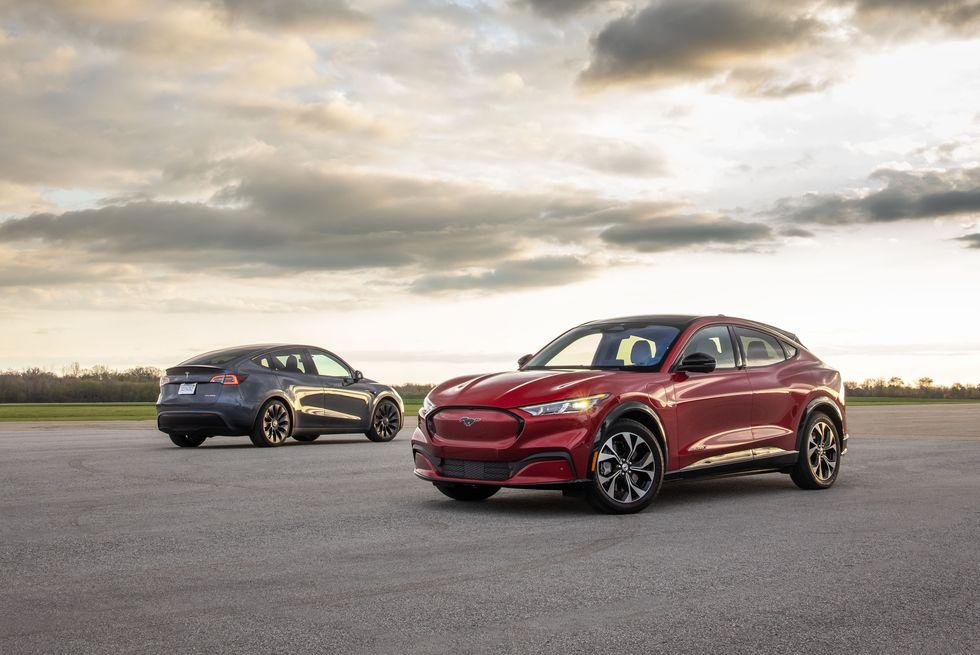 2021 Ford Mustang Mach-E vs. 2020 Tesla Model Y