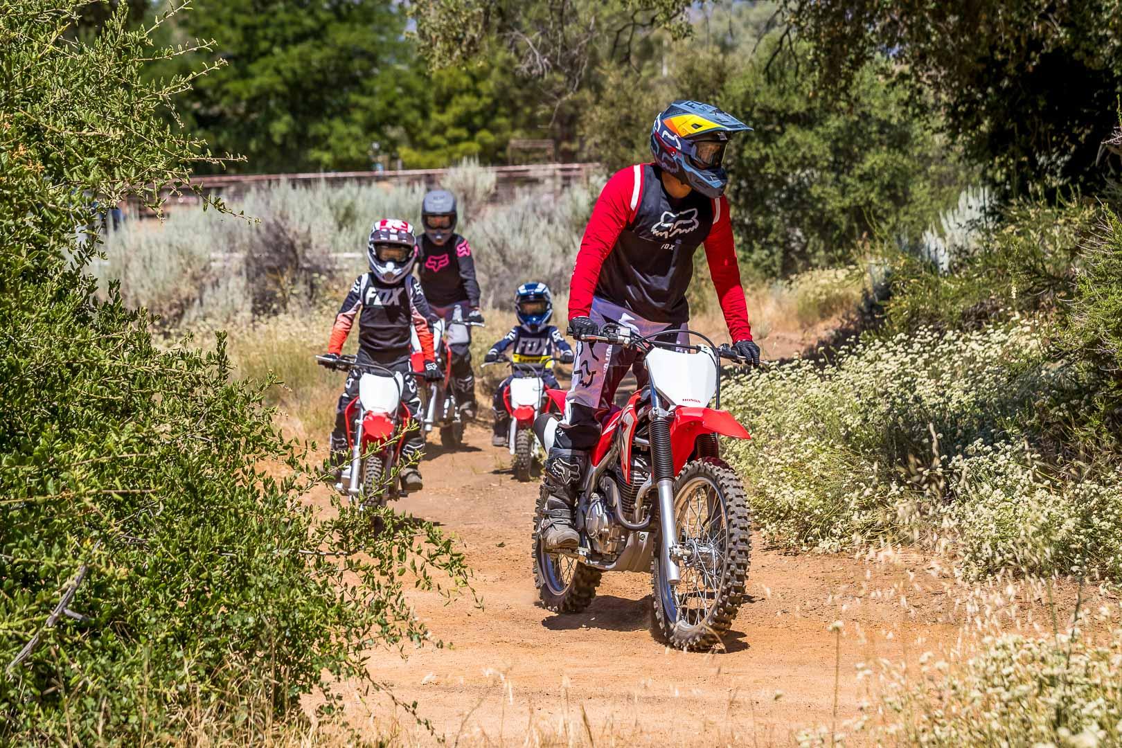 2022 Honda Green Sticker Trail Bike Lineup