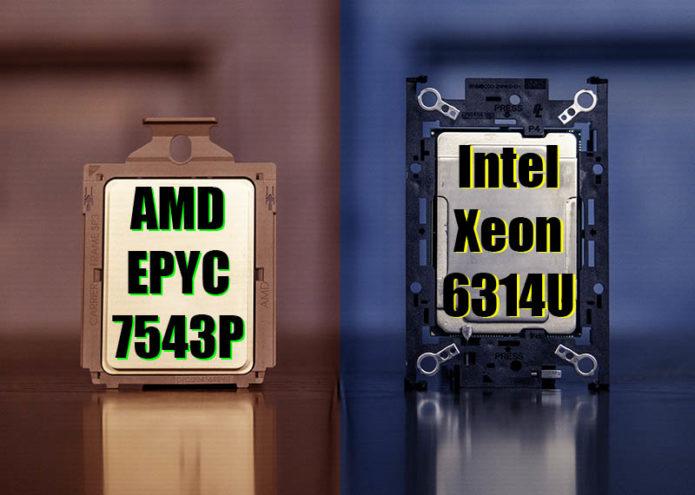 Intel Xeon Gold 6314U v AMD EPYC 7543P the 1S 32-core Options