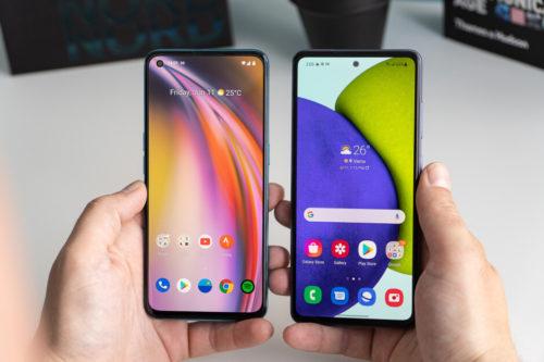 OnePlus Nord CE 5G vs. Samsung Galaxy A52 5G