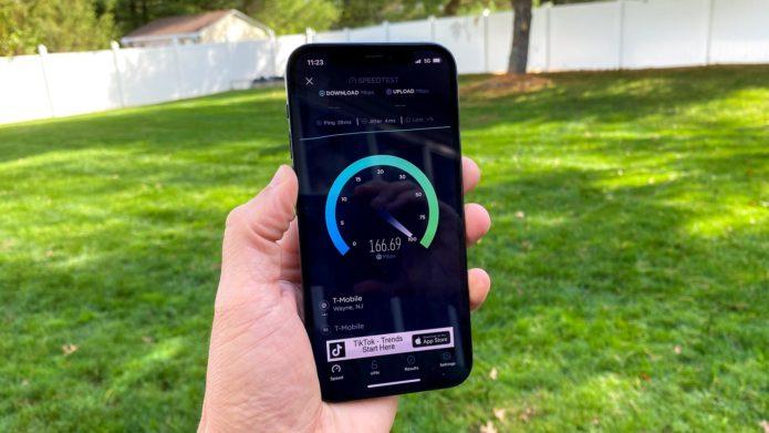 iphone 5g speed test