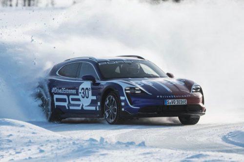 WATCH: Porsche Taycan Cross Turismo tear it up