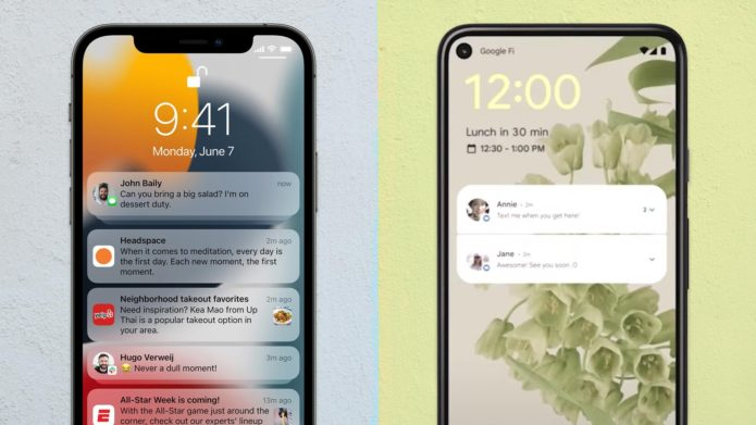 iOS 15 vs. Android 12