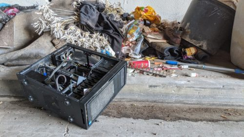 Someone left this gaming PC in the gutter and all it needed was some love