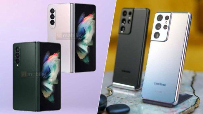 Samsung Galaxy Z Fold 3 vs. Galaxy S21 Ultra