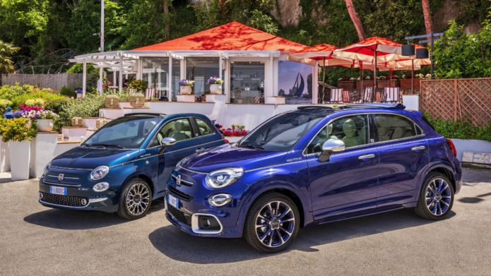 2021 Fiat 500X and 500C Yachting