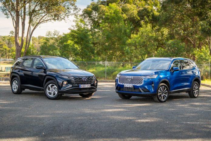 2021 Haval H6 Lux 2WD v Hyundai Tucson G2.0 FWD