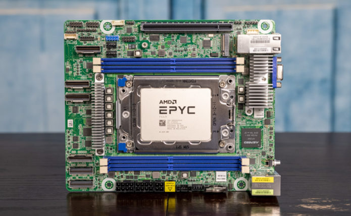 ASRock Rack ROMED4ID-2T mITX-ish AMD EPYC Motherboard