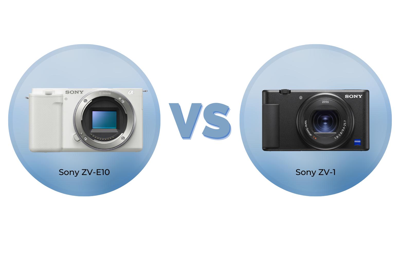 Sony ZV-E10 vs ZV-1