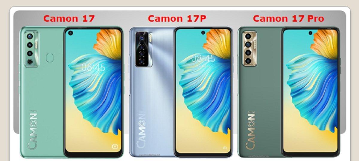 Tecno Camon 17 vs Camon 17p vs Camon 17 Pro