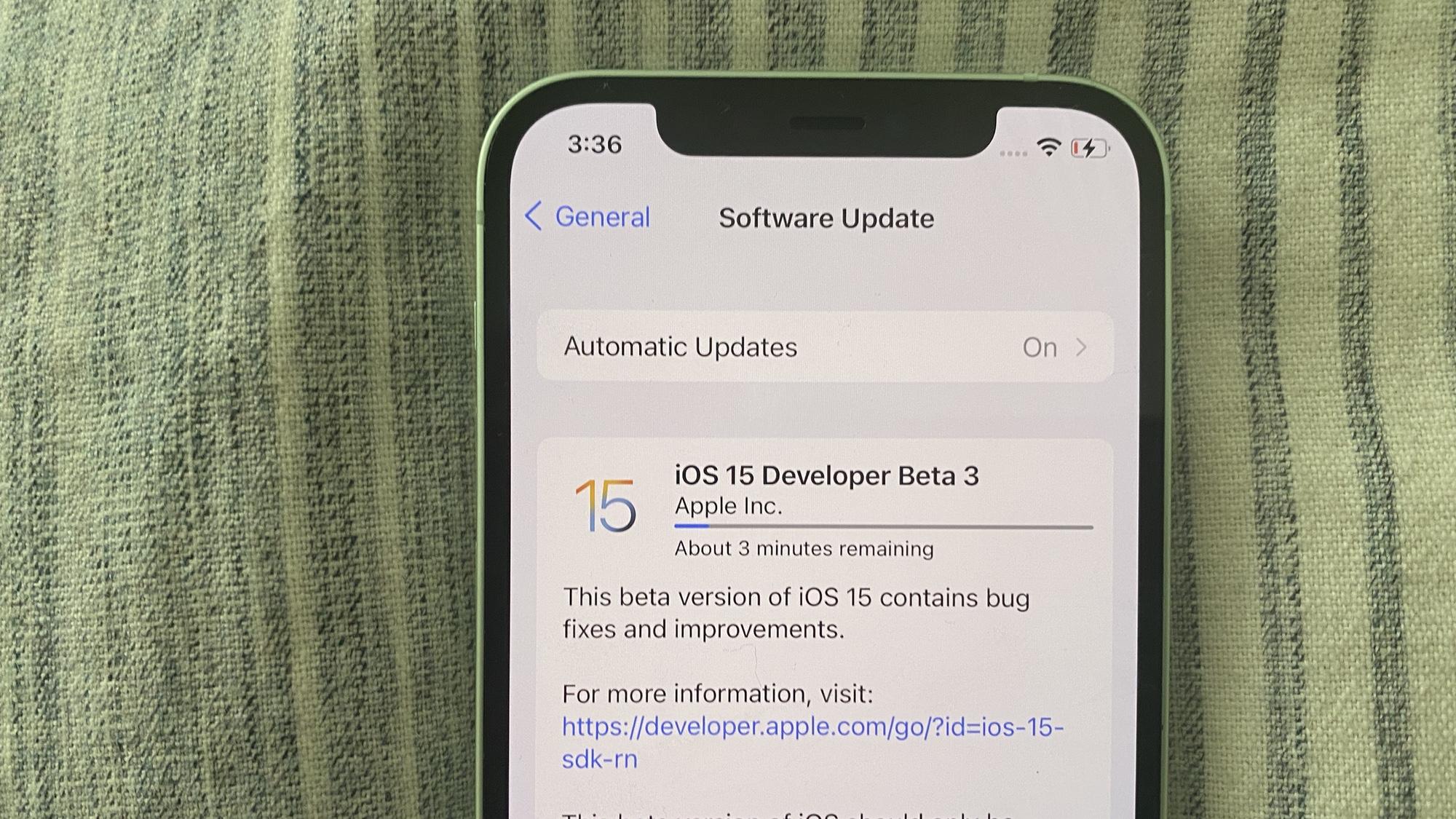 iOS 15 beta 3