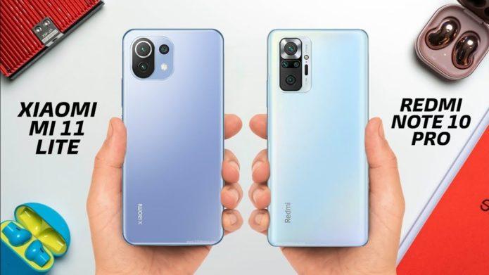 Redmi Note 10 Pro vs Xiaomi Mi 11 Lite