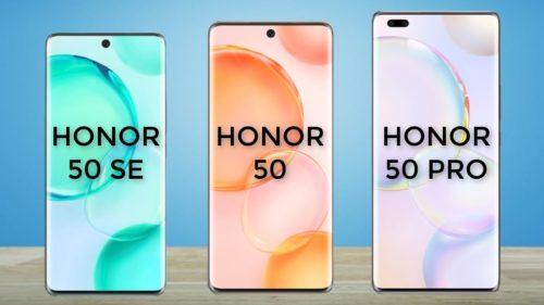 Honor 50 vs Honor 50 SE vs Honor 50 Pro: Specs Comparison