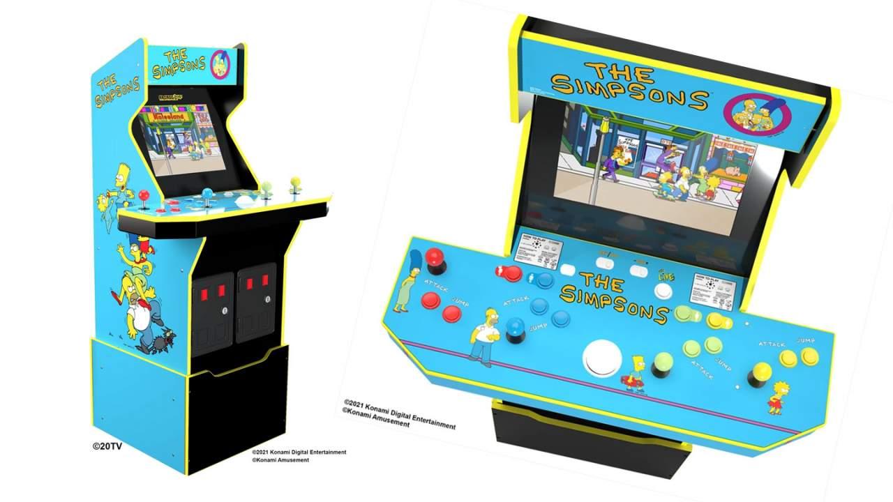 Simpsons arcade machine