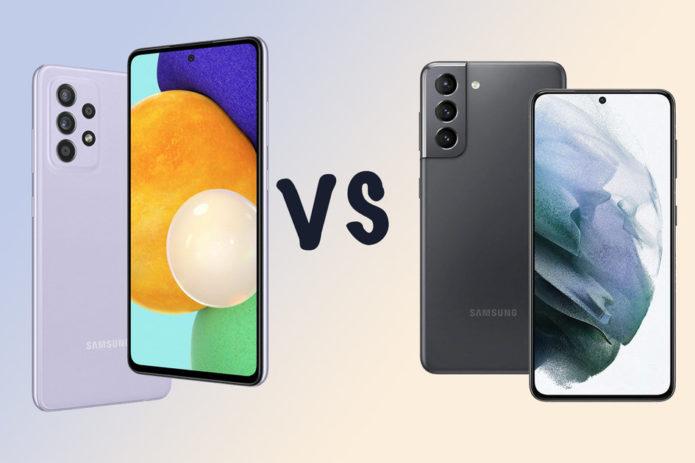 Samsung Galaxy A52s 5G vs A52 5G vs Galaxy S21