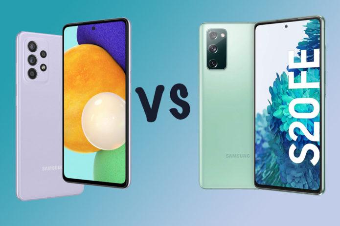 Samsung Galaxy A52s vs A52 5G vs Galaxy S20 FE