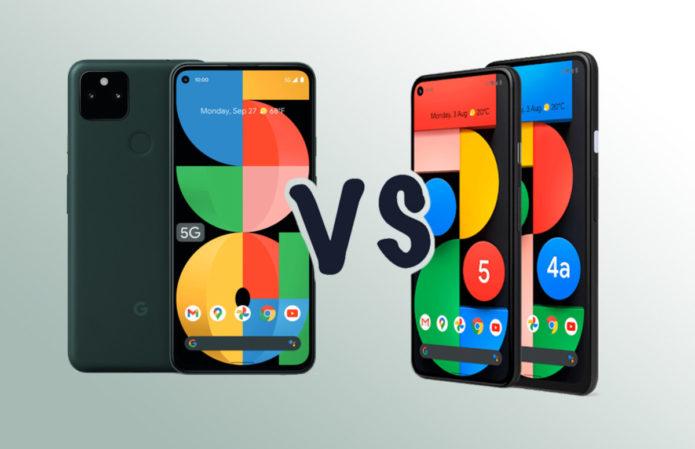 Google Pixel 5a 5G vs Pixel 5 vs Pixel 4a 5G