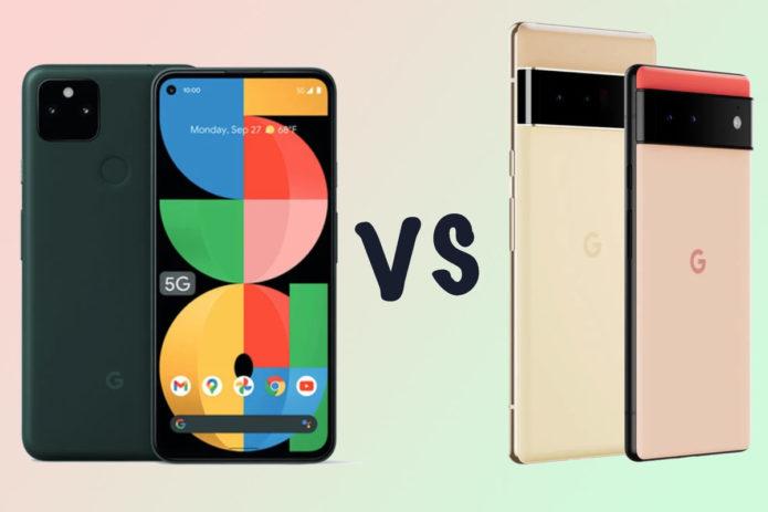 Google Pixel 5a 5G vs Pixel 6