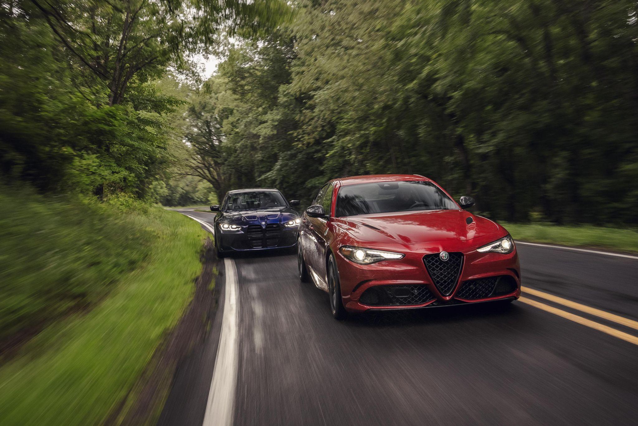 2021 Alfa Romeo Giulia Quadrifoglio vs. BMW M3 Competition