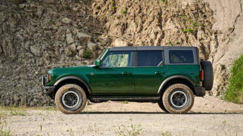 Ford Reveals 2022 Bronco Eruption Green Metallic heritage paint color