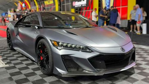 The first 2022 Acura NSX Type S sold at auction last weekend