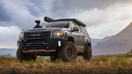 GMC Canyon AT4 OVRLANDX Off-Road Concept teases adventure pickup possibilty