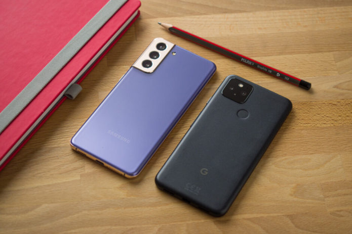Google Pixel 5a vs. Samsung Galaxy S21