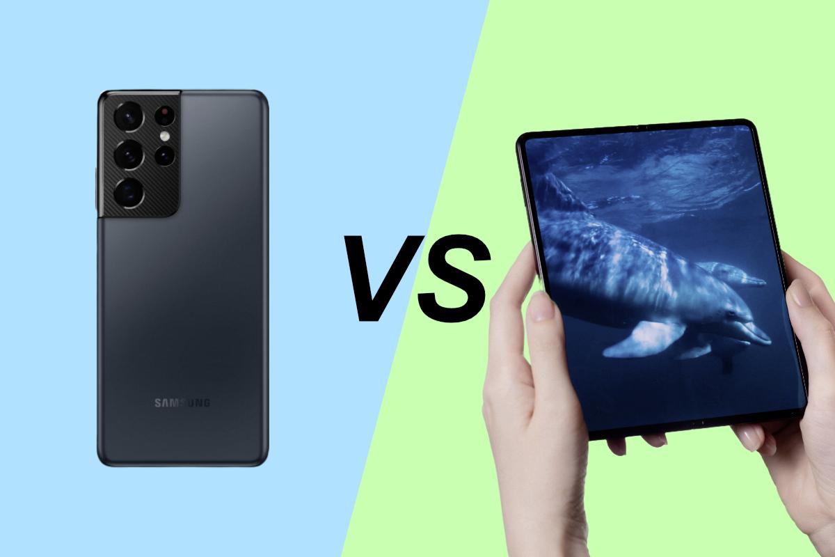 Samsung Galaxy Z Fold3 vs Galaxy S21 Ultra