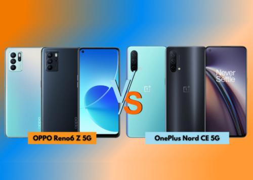OPPO Reno6 Z 5G vs OnePlus Nord CE 5G: Specs Comparison