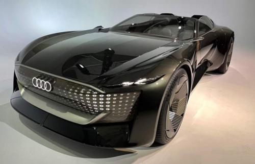 Audi skysphere concept EV literally stretches and shrinks