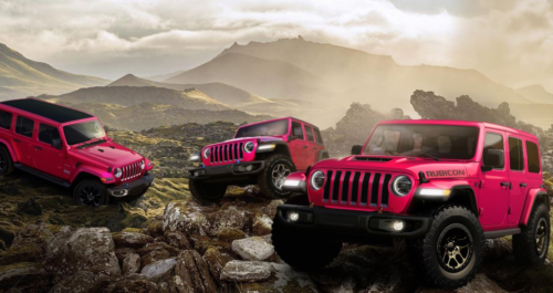 You Can Now Get a Pink Jeep Wrangler
