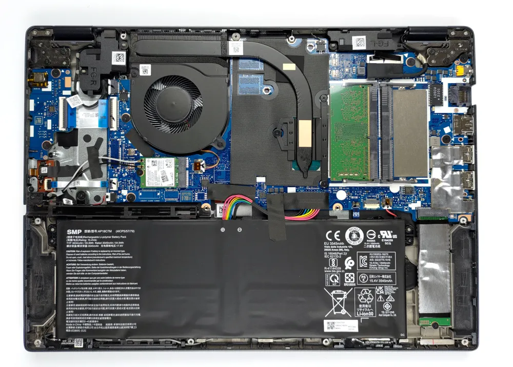Inside Acer TravelMate Spin P4 (TMP414-51)